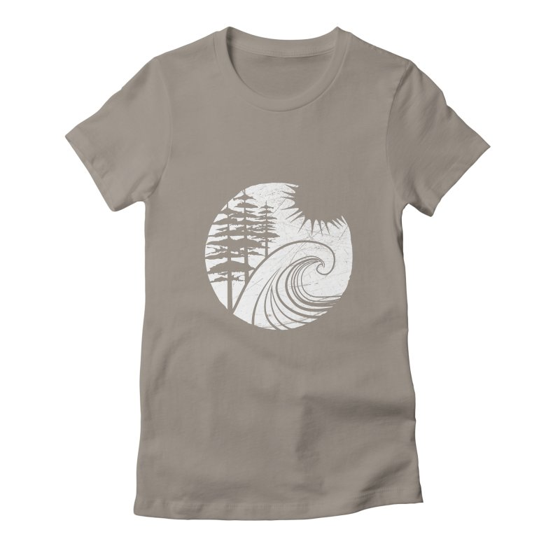 West Coast Wave Women's Fitted T-Shirt by moniquemodern's Artist Shop