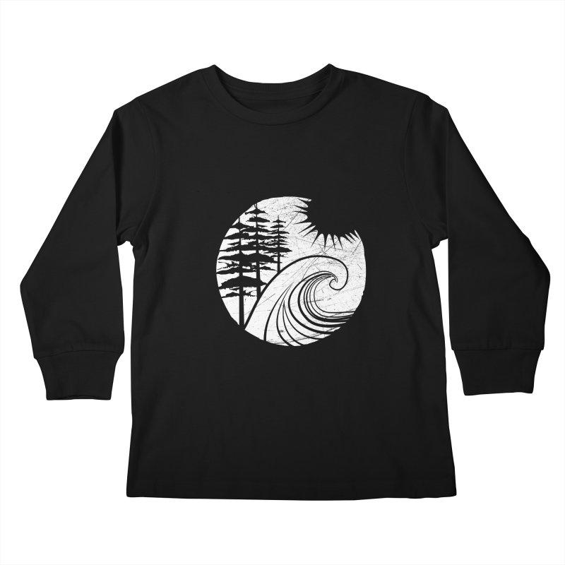 West Coast Wave Kids Longsleeve T-Shirt by moniquemodern's Artist Shop