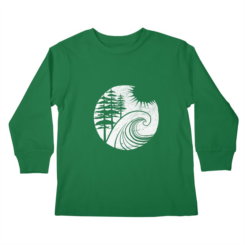 West Coast Wave Kids Longsleeve T-Shirt by moniquemodern's Artist Shop