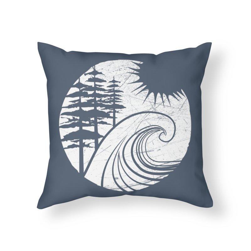 West Coast Wave Home Throw Pillow by moniquemodern's Artist Shop