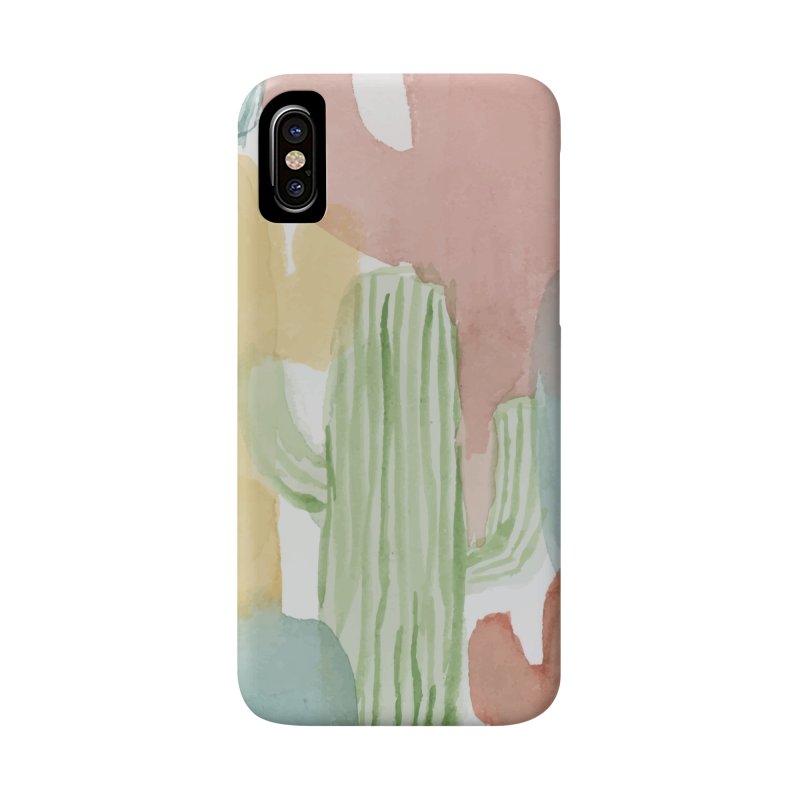 Watercolor Cacti Accessories Phone Case by moniquemodern's Artist Shop