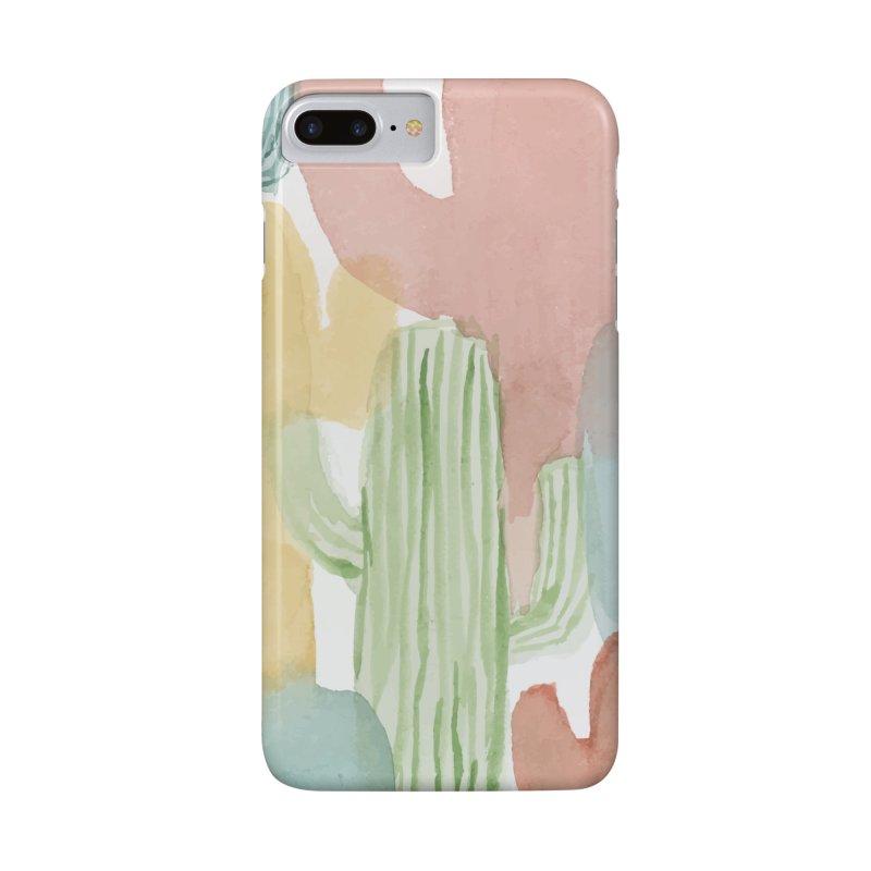 Watercolor Cacti Accessories Phone Case by moniquemodern's Artist Shop