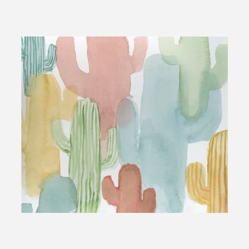 Watercolor Cacti None  by moniquemodern's Artist Shop