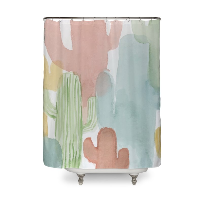 Watercolor Cacti Home Shower Curtain by moniquemodern's Artist Shop