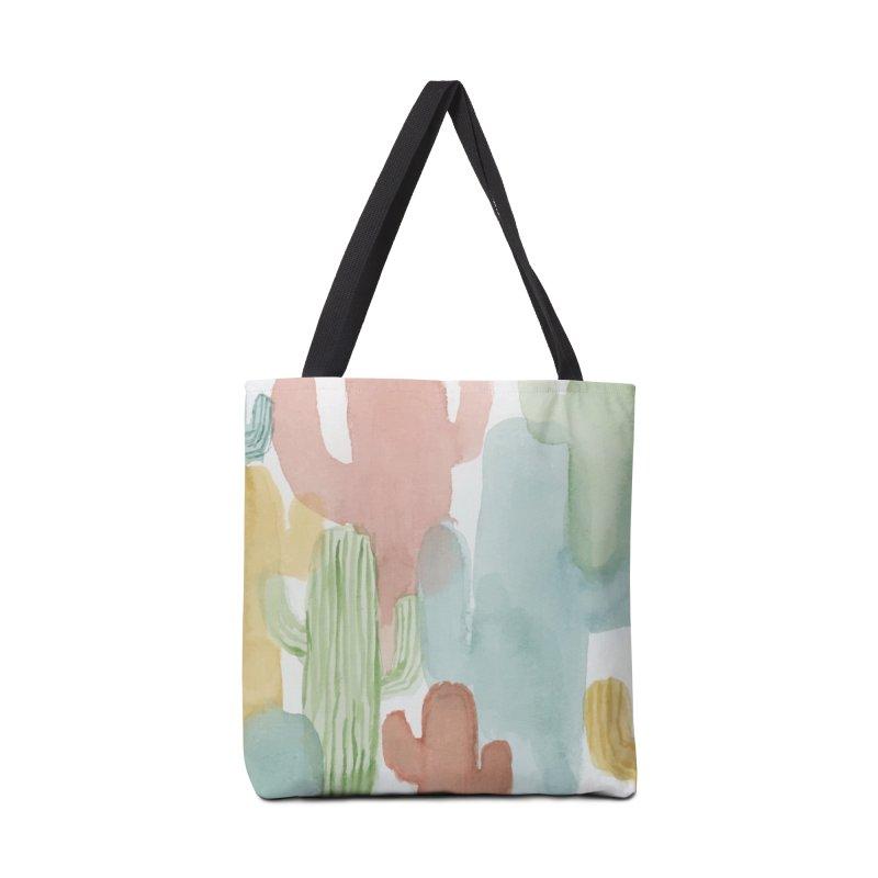 Watercolor Cacti Accessories Bag by moniquemodern's Artist Shop