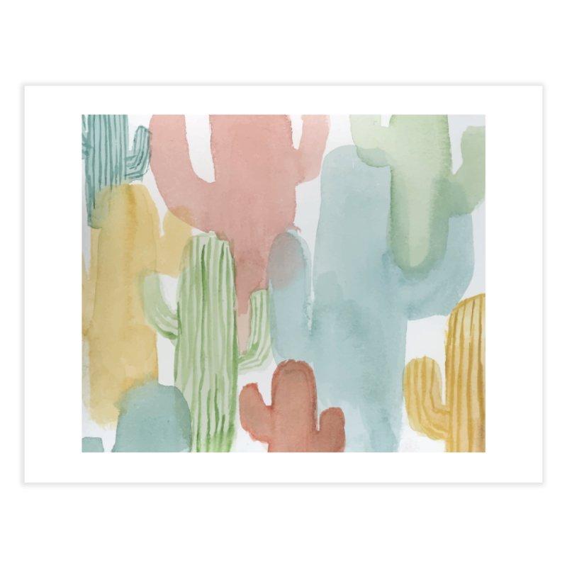 Watercolor Cacti Home Fine Art Print by moniquemodern's Artist Shop