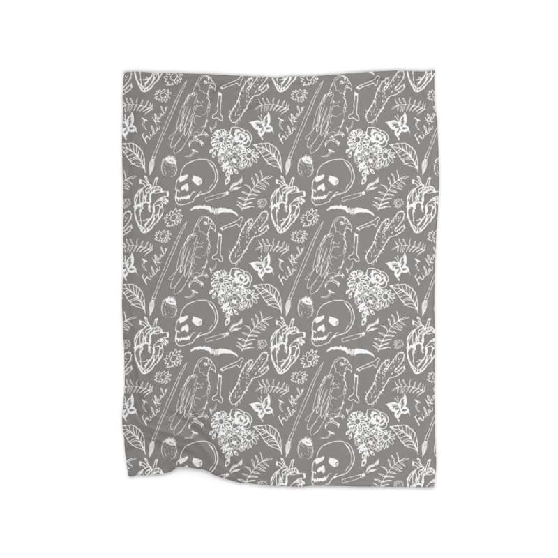 Frida Kahlo Pattern Home Fleece Blanket Blanket by moniquemodern's Artist Shop