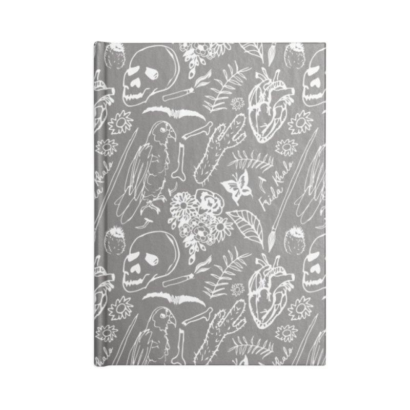 Frida Kahlo Pattern Accessories Blank Journal Notebook by moniquemodern's Artist Shop