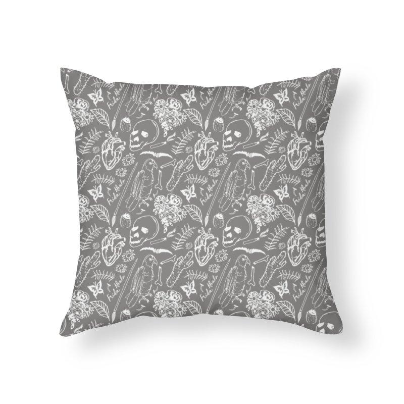 Frida Kahlo Pattern Home Throw Pillow by moniquemodern's Artist Shop