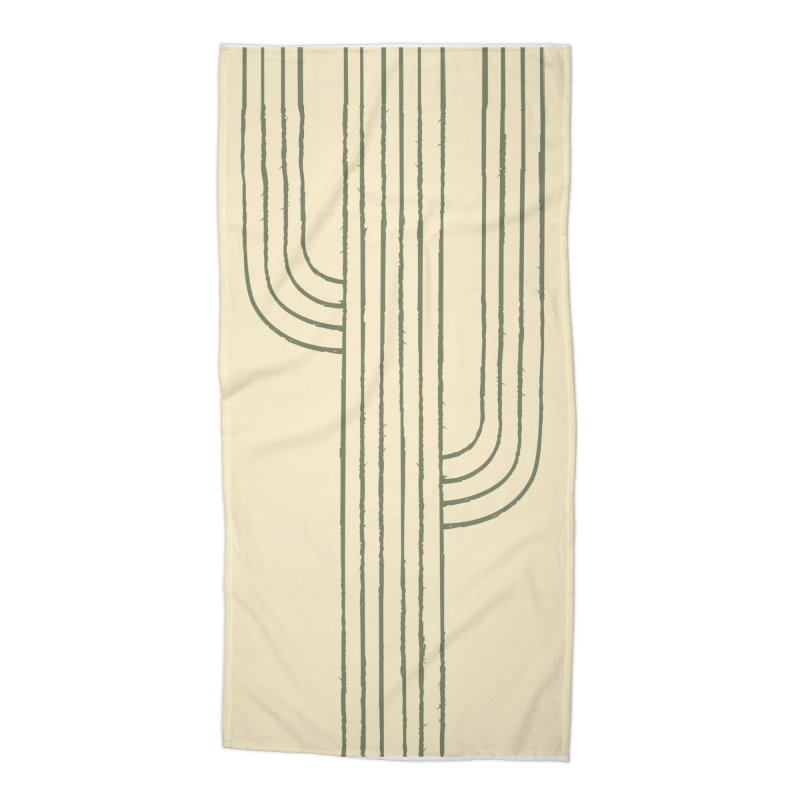 Cactus Lines Accessories Beach Towel by moniquemodern's Artist Shop