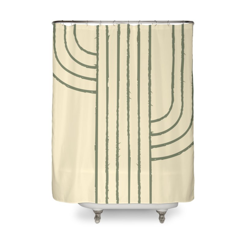 Cactus Lines Home Shower Curtain by moniquemodern's Artist Shop