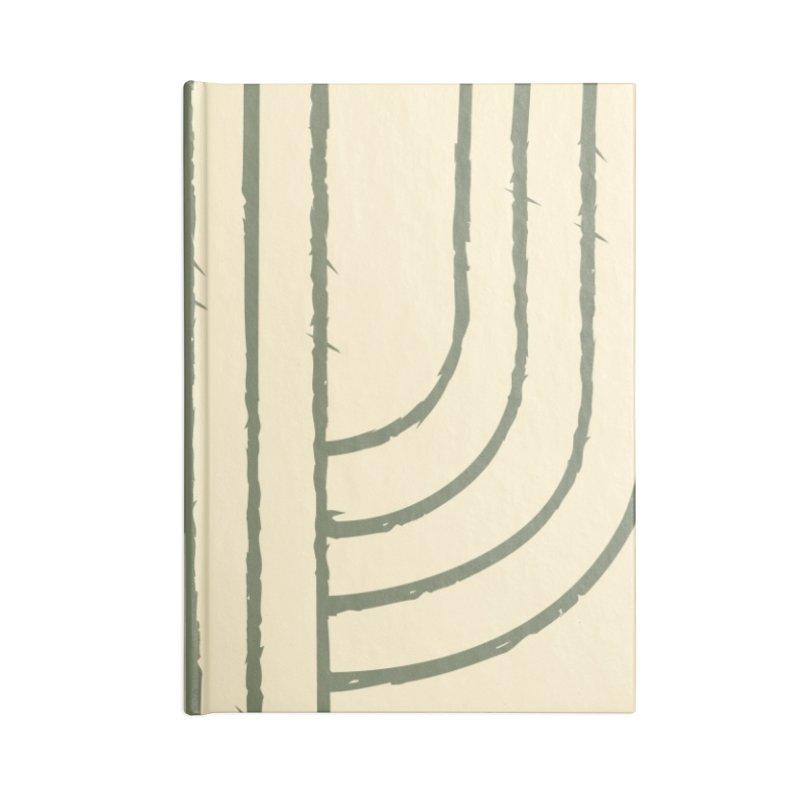 Cactus Lines Accessories Blank Journal Notebook by moniquemodern's Artist Shop