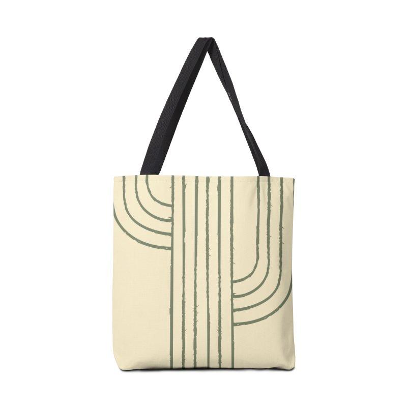 Cactus Lines Accessories Bag by moniquemodern's Artist Shop