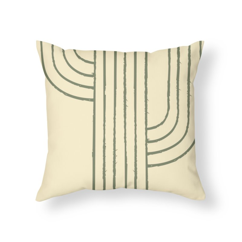 Cactus Lines Home Throw Pillow by moniquemodern's Artist Shop