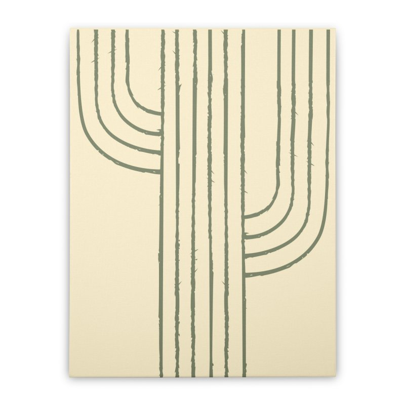 Cactus Lines Home Stretched Canvas by moniquemodern's Artist Shop