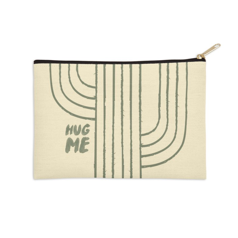 Cactus Lines Accessories Zip Pouch by moniquemodern's Artist Shop