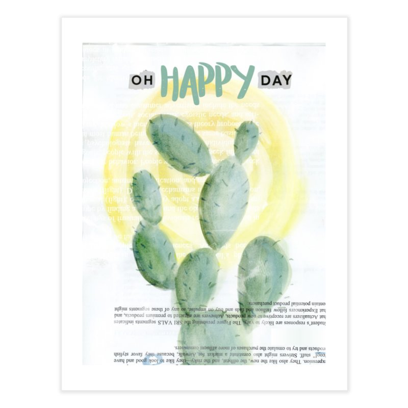 Oh Happy Day Home Fine Art Print by moniquemodern's Artist Shop