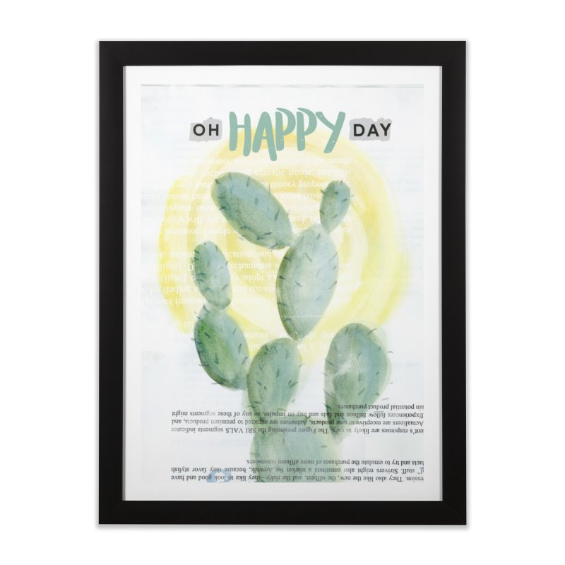 Oh Happy Day Home Framed Fine Art Print by moniquemodern's Artist Shop