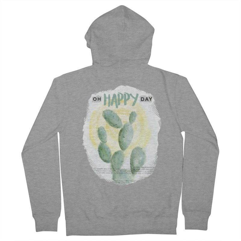 Oh Happy Day Men's Zip-Up Hoody by moniquemodern's Artist Shop