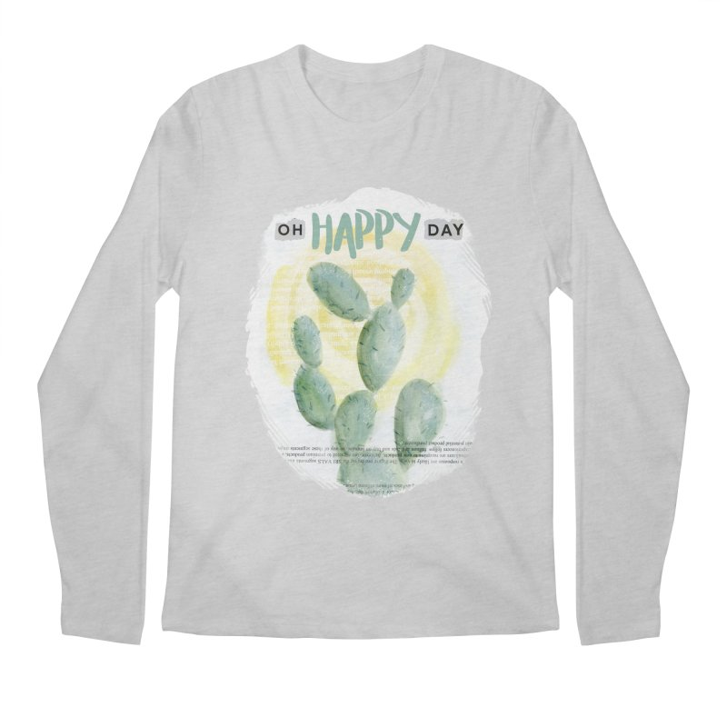 Oh Happy Day Men's Longsleeve T-Shirt by moniquemodern's Artist Shop