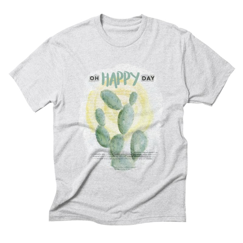 Oh Happy Day Men's Triblend T-shirt by moniquemodern's Artist Shop