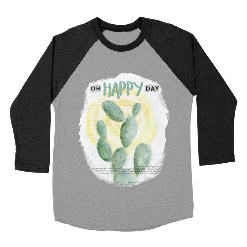 Oh Happy Day Women's Baseball Triblend T-Shirt by moniquemodern's Artist Shop