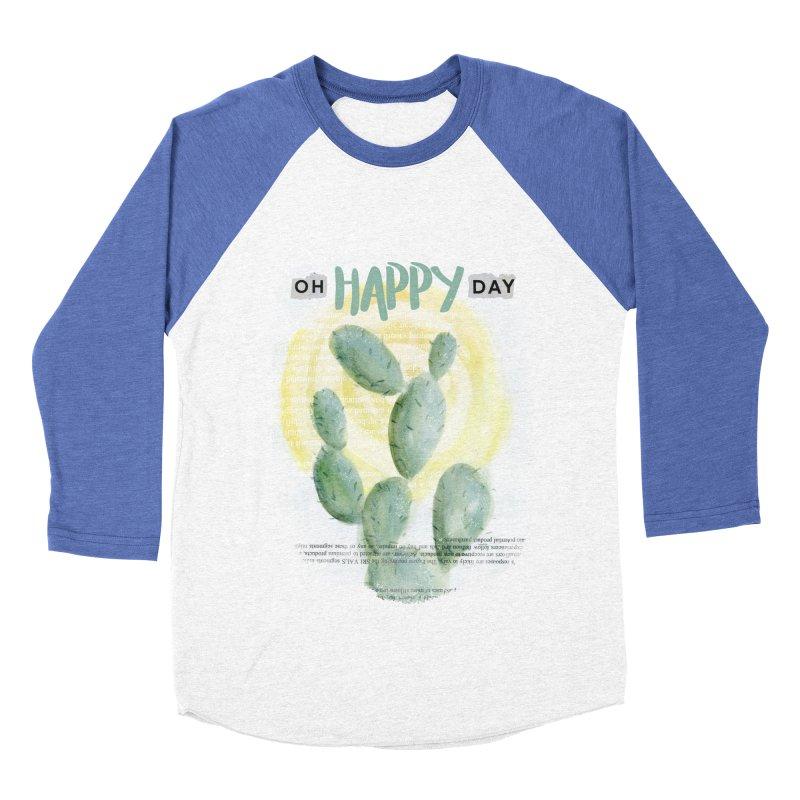 Oh Happy Day Men's Baseball Triblend T-Shirt by moniquemodern's Artist Shop
