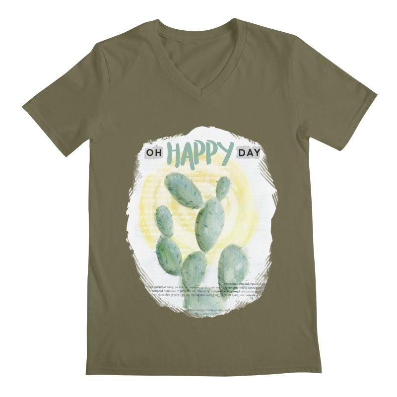 Oh Happy Day Men's V-Neck by moniquemodern's Artist Shop