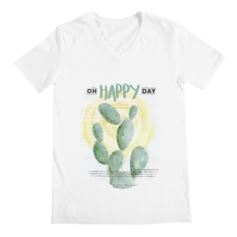 Oh Happy Day Men's V-Neck by moniquemodern's Artist Shop