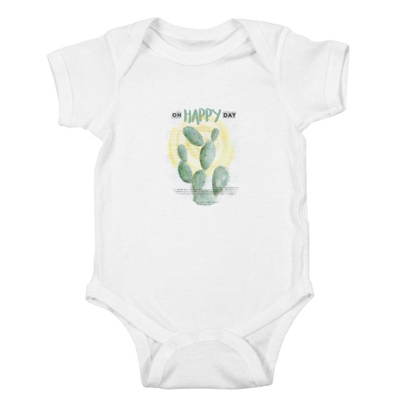 Oh Happy Day Kids Baby Bodysuit by moniquemodern's Artist Shop
