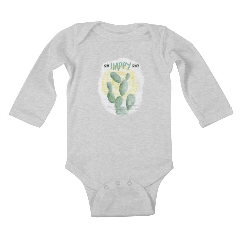 Oh Happy Day Kids Baby Longsleeve Bodysuit by moniquemodern's Artist Shop