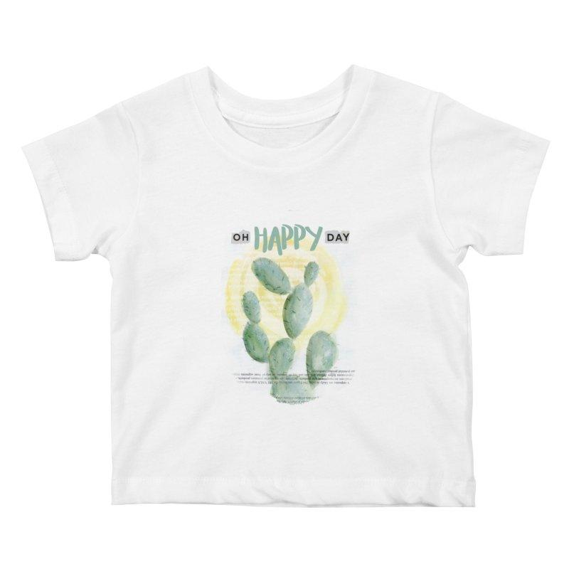 Oh Happy Day Kids Baby T-Shirt by moniquemodern's Artist Shop