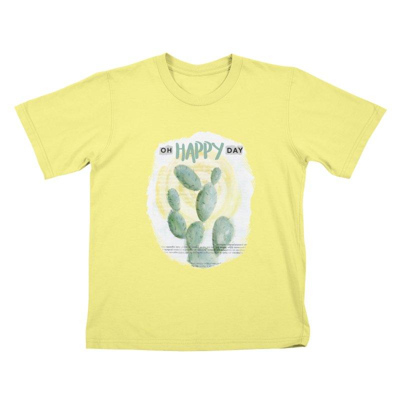 Oh Happy Day Kids T-shirt by moniquemodern's Artist Shop