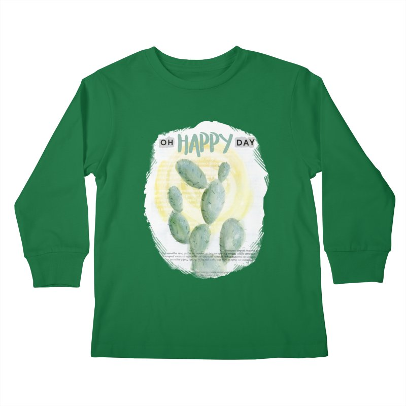 Oh Happy Day Kids Longsleeve T-Shirt by moniquemodern's Artist Shop