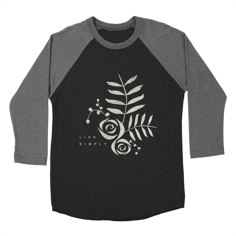 Live Simply Women's Baseball Triblend T-Shirt by moniquemodern's Artist Shop