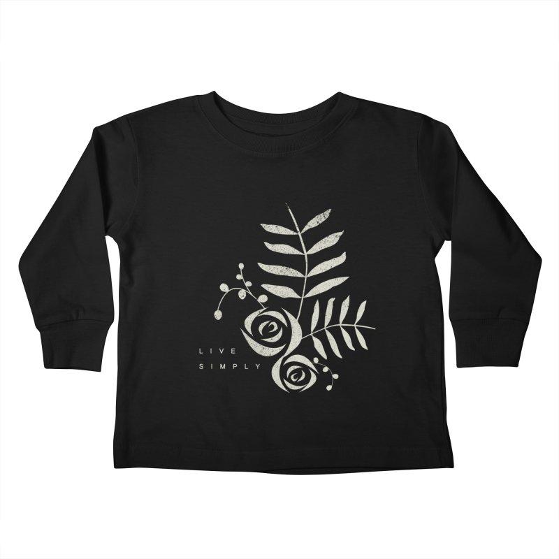 Live Simply Kids Toddler Longsleeve T-Shirt by moniquemodern's Artist Shop
