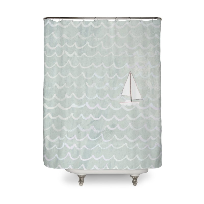 Sail the Sea Home Shower Curtain by moniquemodern's Artist Shop