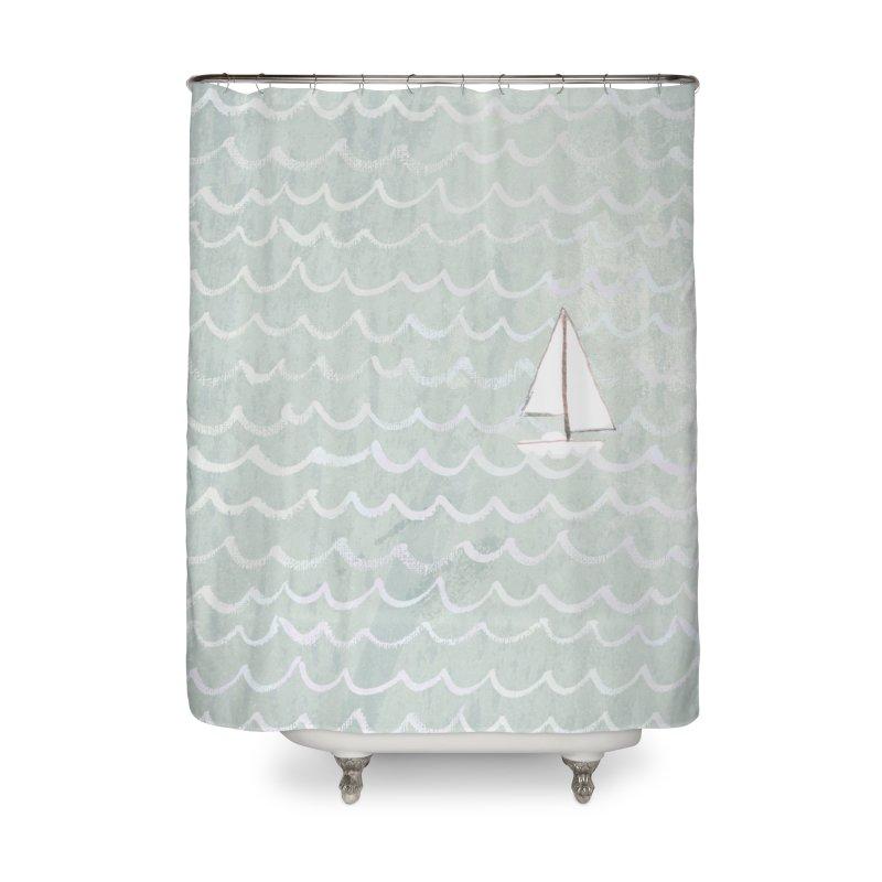 Sail the Sea Home Shower Curtain by moniquemodern's Artist Shop