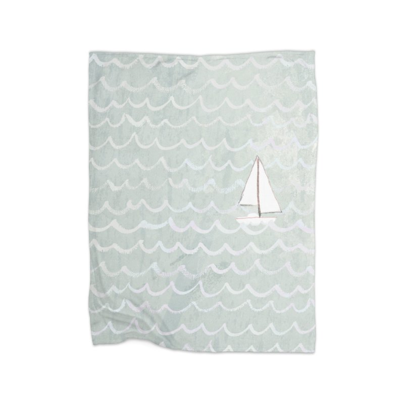 Sail the Sea Home Blanket by moniquemodern's Artist Shop