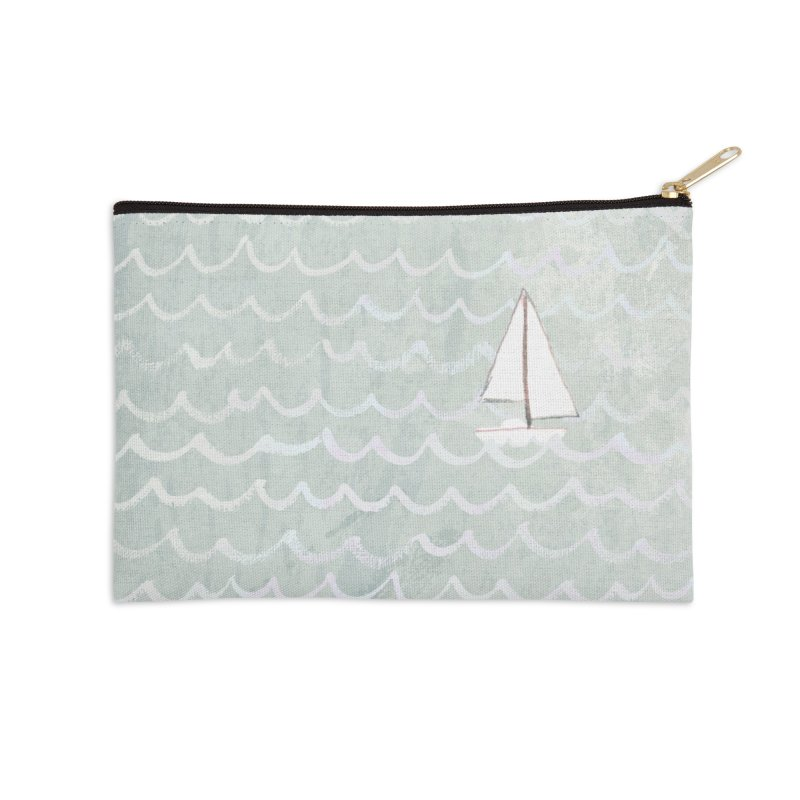Sail the Sea Accessories Zip Pouch by moniquemodern's Artist Shop