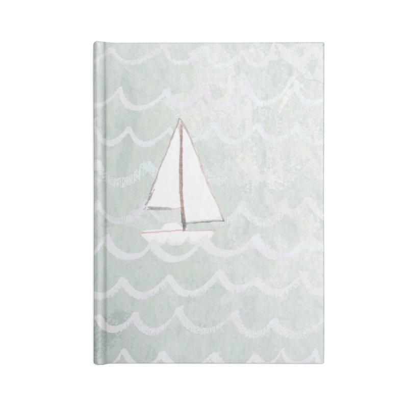 Sail the Sea Accessories Blank Journal Notebook by moniquemodern's Artist Shop