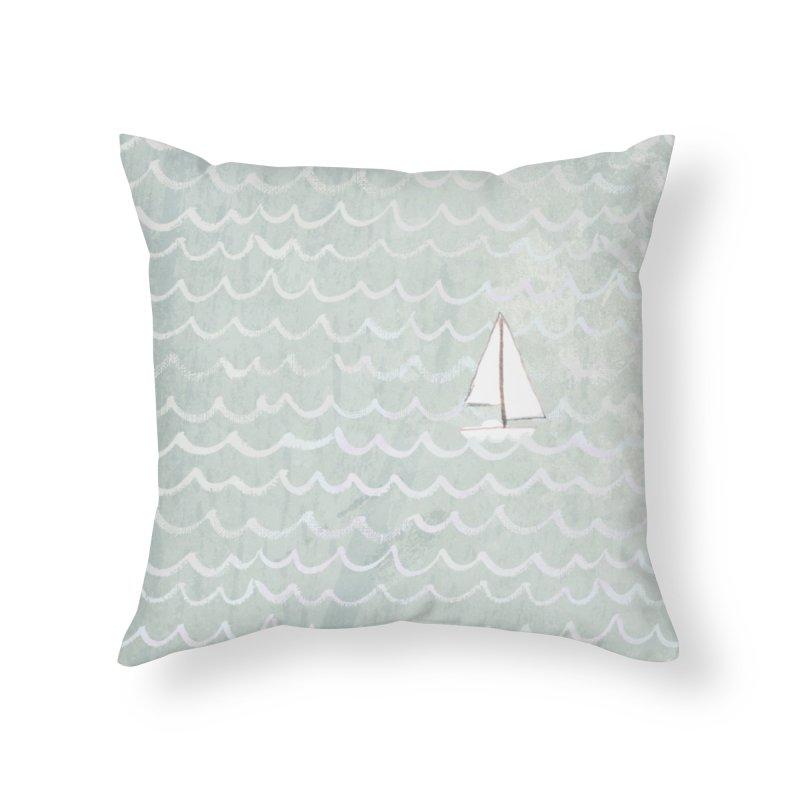 Sail the Sea Home Throw Pillow by moniquemodern's Artist Shop