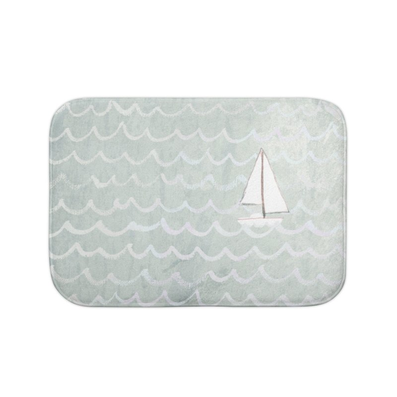 Sail the Sea Home Bath Mat by moniquemodern's Artist Shop