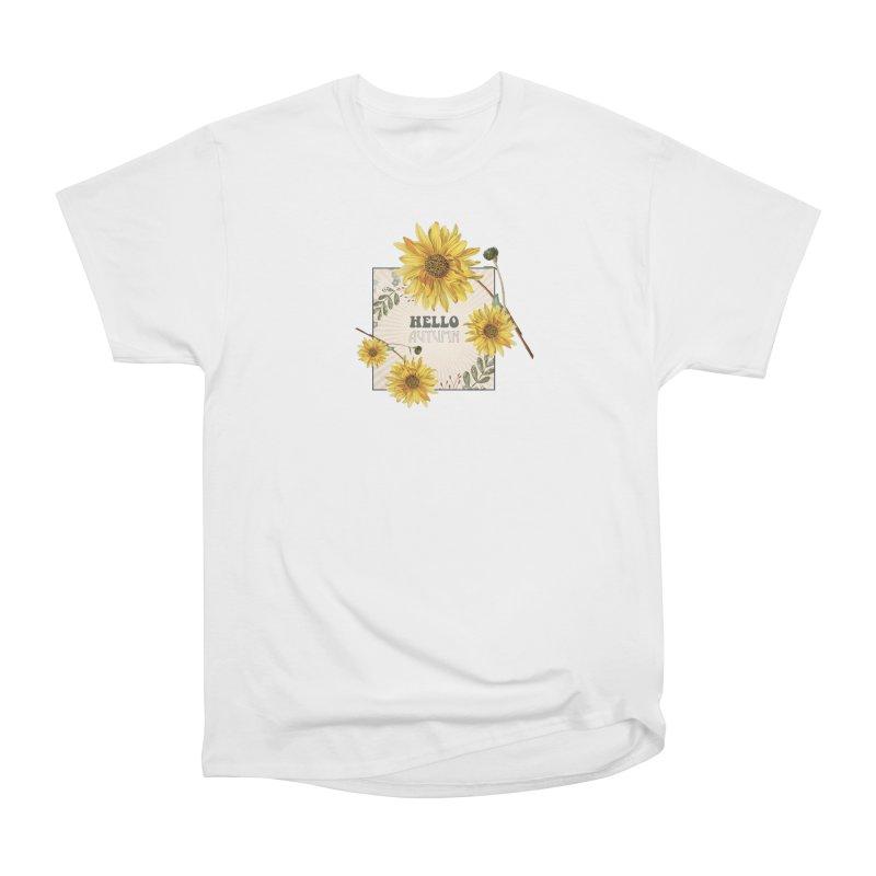 Hello Autumn Women's Heavyweight Unisex T-Shirt by moniquemodern's Artist Shop