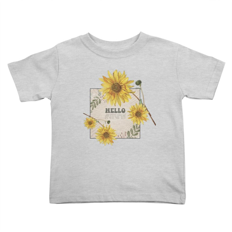 Hello Autumn Kids Toddler T-Shirt by moniquemodern's Artist Shop