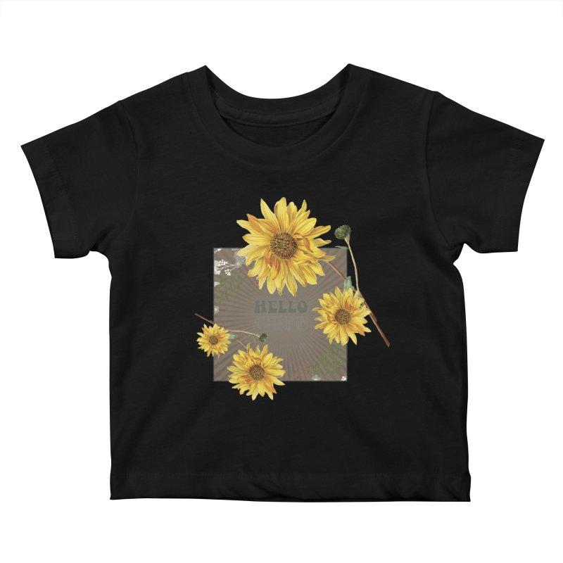 Hello Autumn Kids Baby T-Shirt by moniquemodern's Artist Shop