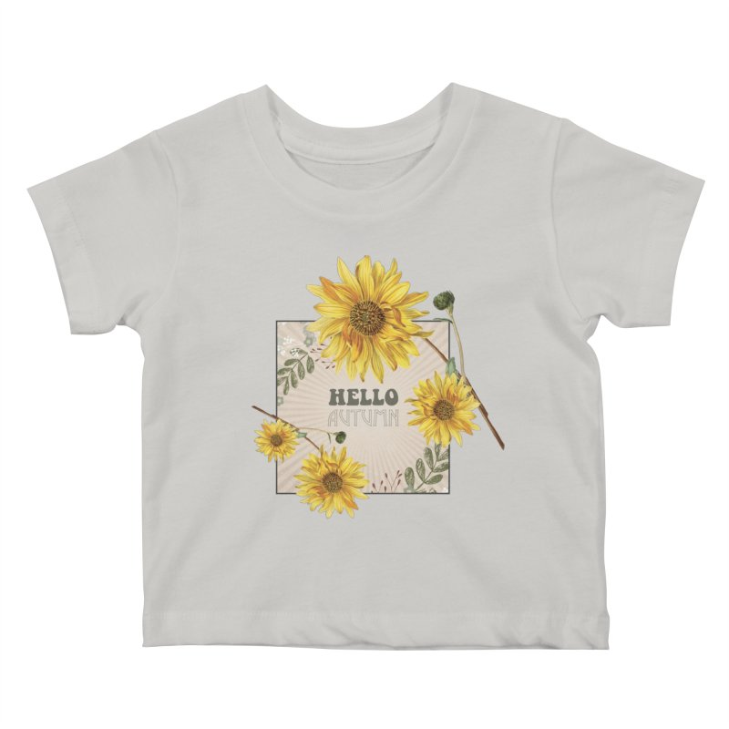 Hello Autumn Kids Baby T-Shirt by moniquemodern's Artist Shop
