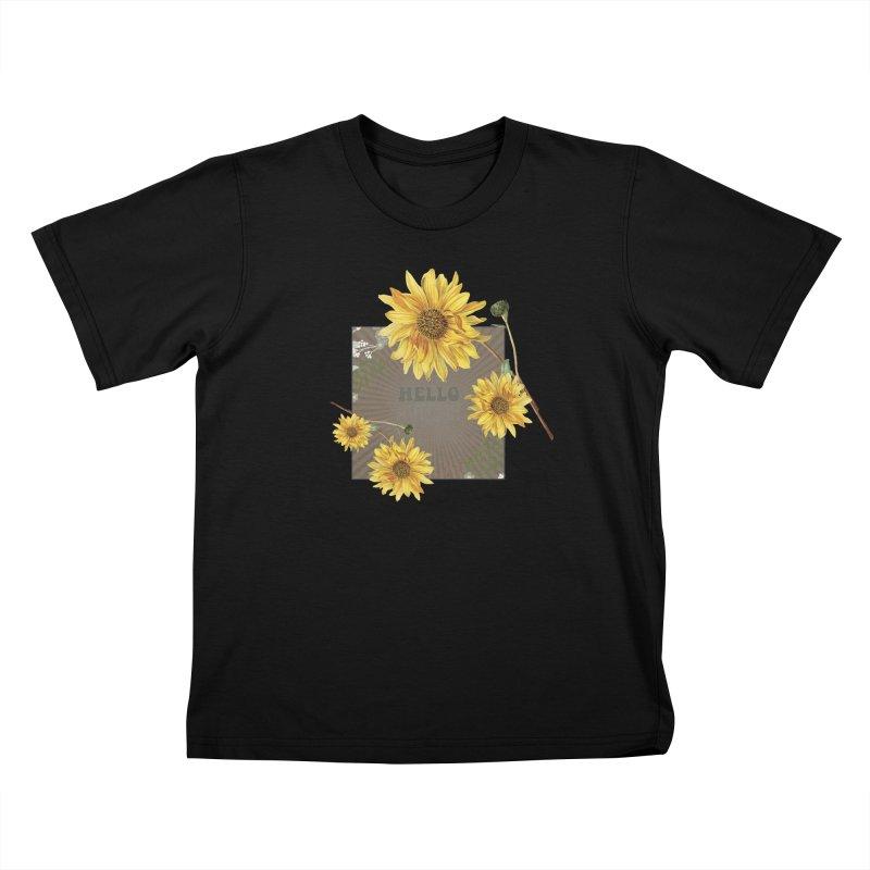 Hello Autumn Kids T-shirt by moniquemodern's Artist Shop