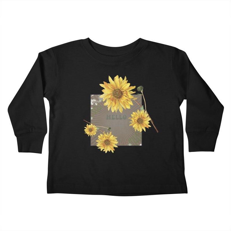 Hello Autumn Kids Toddler Longsleeve T-Shirt by moniquemodern's Artist Shop