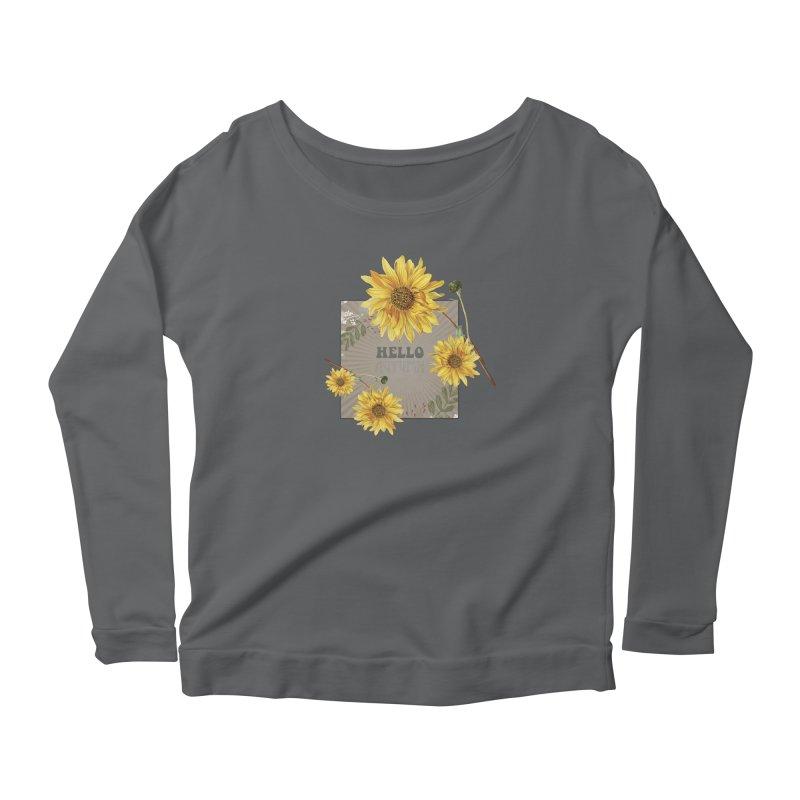 Hello Autumn Women's Scoop Neck Longsleeve T-Shirt by moniquemodern's Artist Shop